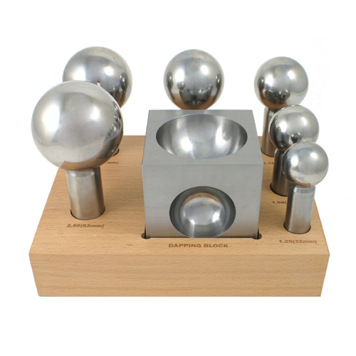 Extra Large 6 Piece Steel Dapping Doming Punch Set With
