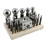 Professional 23 Piece Dapping Set - 3 to 43 Millimeter Punches (3 piece min)