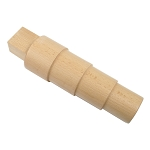 Wood Bracelet Mandrel - Round Stepped (6 piece min)