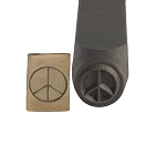 Peace Sign Stamp 6 mm  (6 piece min)