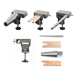 Bench Anvil Combo Kit - Round Bracelet and Ring Mandrels, Anvil, V Slot Bench Pin (3 piece min)
